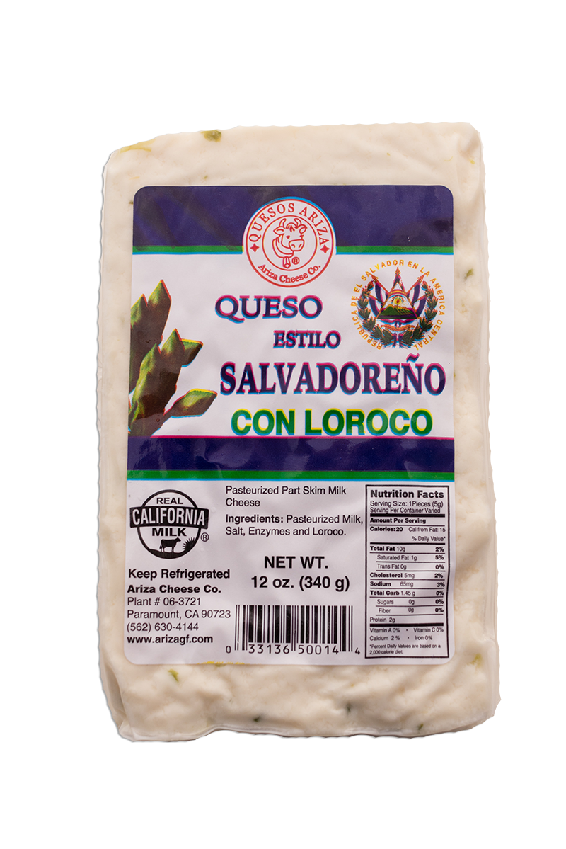 Ariza Cheese Queso Estilo Salvadoreno Con Loroco